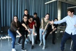 Eine Schulklasse beim Workshop